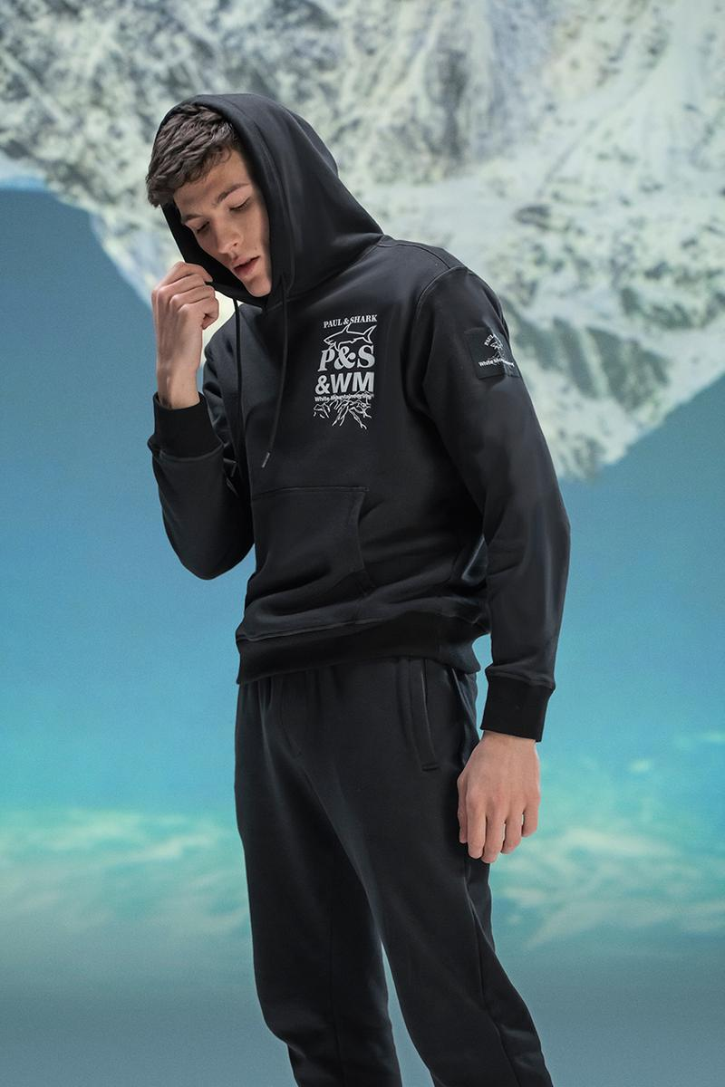 paul and shark white mountaineering jacket fashion t-shirt sweater pants streetwear durable lookbook aw21 japanese italian hiking outdoors high funtionality performance gear