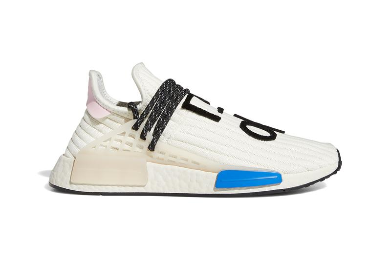pharrell adidas nmd hu cream light pink blue Q46454 release date photos store list buying guide autonomous robot