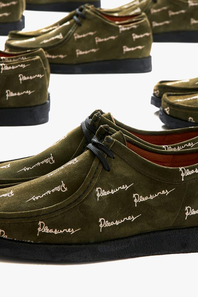 pleasures alex james padmore and barnes clarks wallabee p204 floral olive release details