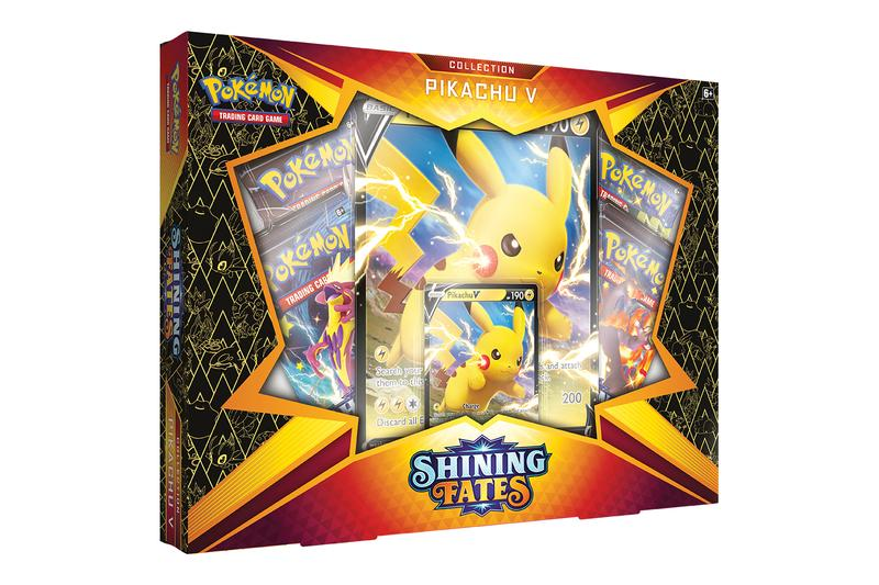 Pokémon TCG Shining Fates Expansion Now Available News Release Charizard Pikachu VMAX V Booters TCG Gaming Eevee ETB Elite trainer box