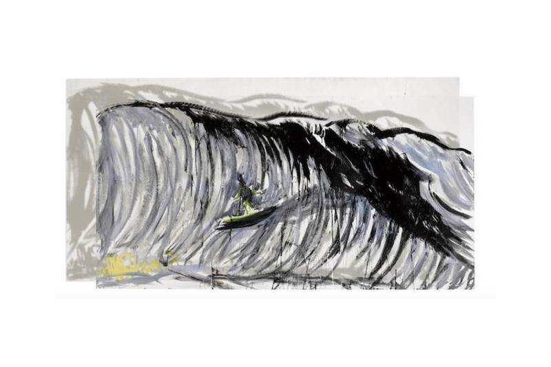 raymond pettibon double sided wave painting bonhams auction