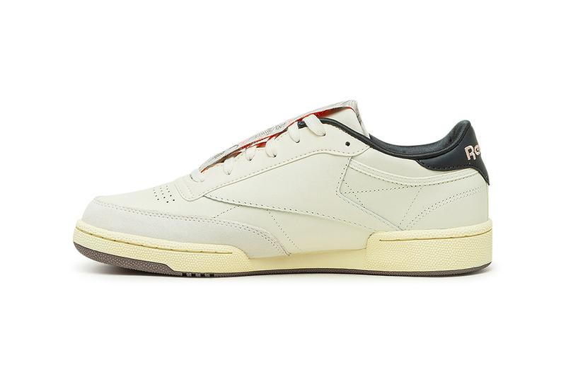 Reebok Club C 85 Chinese New Year Classic White Pale Yellow Golden Bronze FY7510 CNY 2021 Year of the Ox Sun Moon Classic Sneaker Release Information Drop Date Closer First Look
