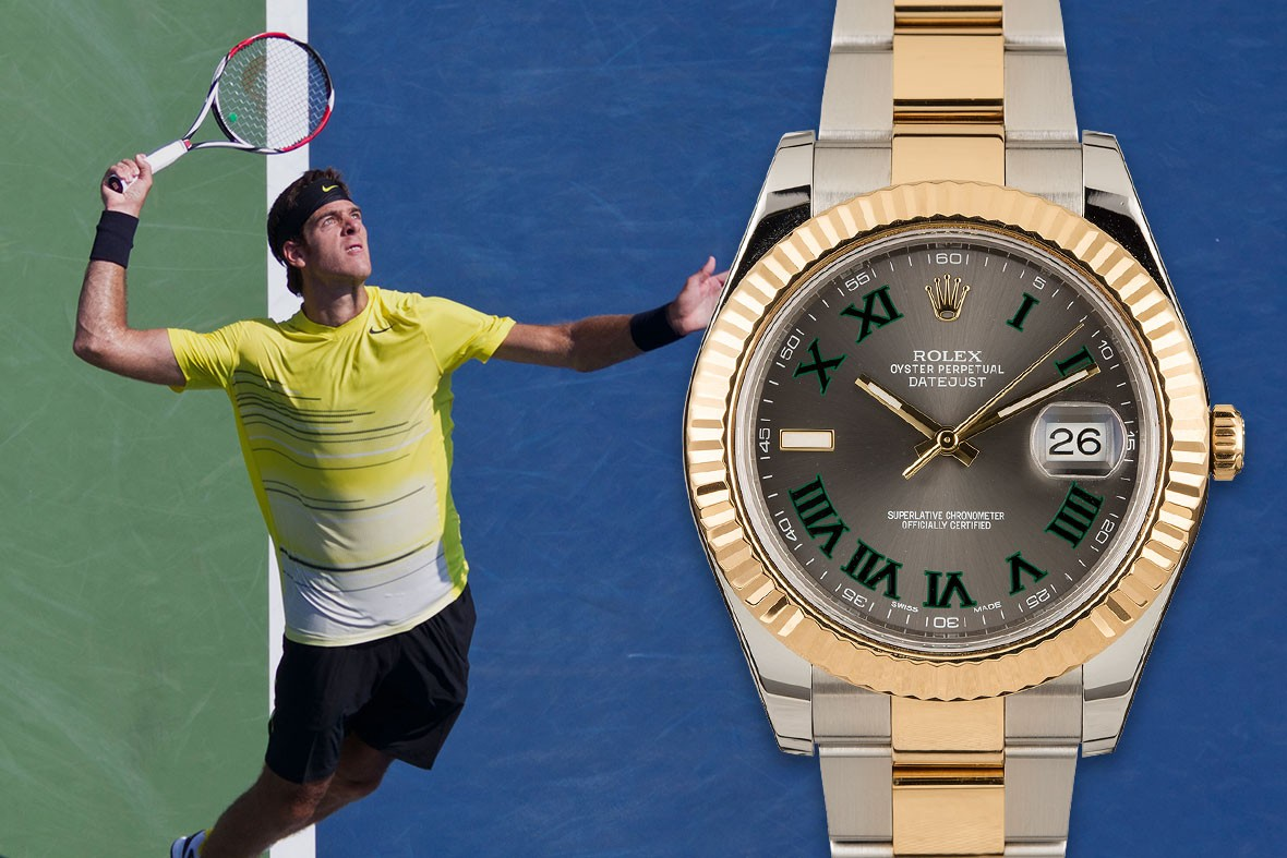 Rolex Tennis on court players wrist check round up Rafael Nadal  ATP Roger Federer Karen Khachanov Dominic Thiem Garbiñe muguruza Potro Stefanos Tsitsipas wrist watches sports Grand Slam Naomi Osaka