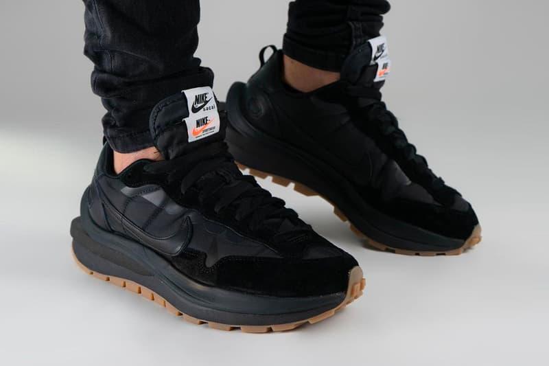 sacai Nike Vaporwaffle Black Gum On-Foot Look Release Info DD1875-001 Buy Date Price Buy Chitose Abe