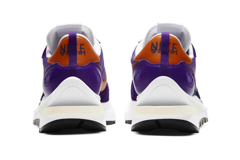 sacai nike sportswear vaporwaffle dark iris purple orange white dd1875 500 chitose abe official release date info photos price store list buying guide