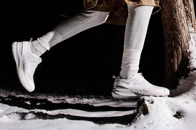 fumito Ganryu Salomon Advanced ultra sneaker footwear fashion japanese running all terrain snow outdoor functionality durability rain cover white
