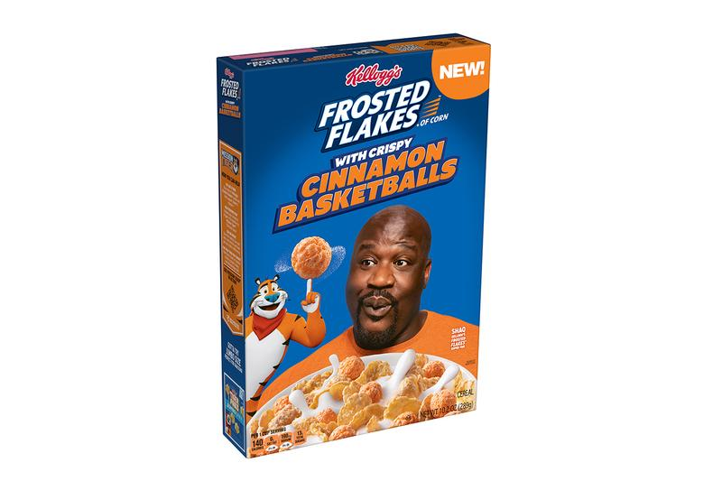 Shaq O'Neal Kellogg's Frosted Flakes with Crispy Cinnamon Basketballs Release