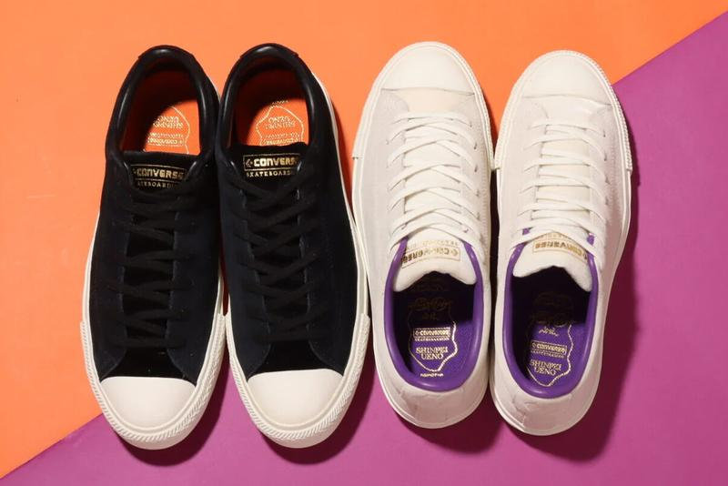 shinpei ueno converse cons skateboarding breakstar ox tightbooth black white orange purple 34200590 34200592 official release date info photos price store list buying guide
