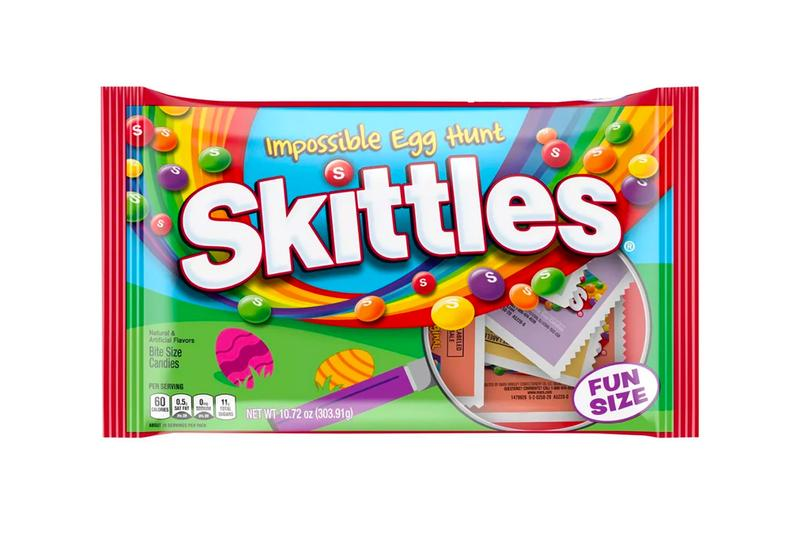 Skittles Impossible Egg Hunt release news East Hunt Candy Food Snacks Target Chewable candy Camouflage taste the rainbow