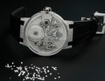 Snow Falls With Diamond-Set Ulysse Nardin Sparkling Free Wheel