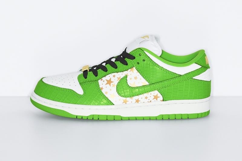Supreme Nike SB Dunk Low SS21 Collab Official Look Release Info DH3228-100-101-102-103 White Metallic Gold Buy Price