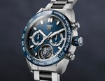 Here's a First Look at the 2021 TAG Heuer Carrera Heuer 02 Tourbillon Blue Dial