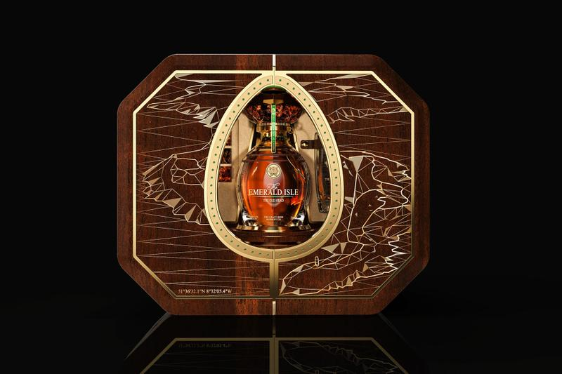 The Craft Irish Whiskey Co. Emerald Isle Fabergé whiskey collection diamonds russian luxury drinks alcohol sets walnut rare auctions