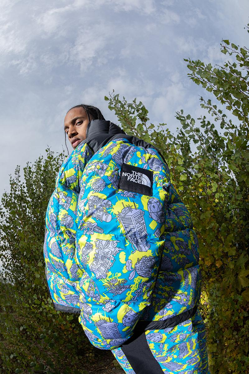 The North Face Latest metro ex jiro bevis graphic artist illustration city country nature skyscraper Lhotse fashion streetwear collection collaboration cross body bag track pants jacket winter outdoor waterproof