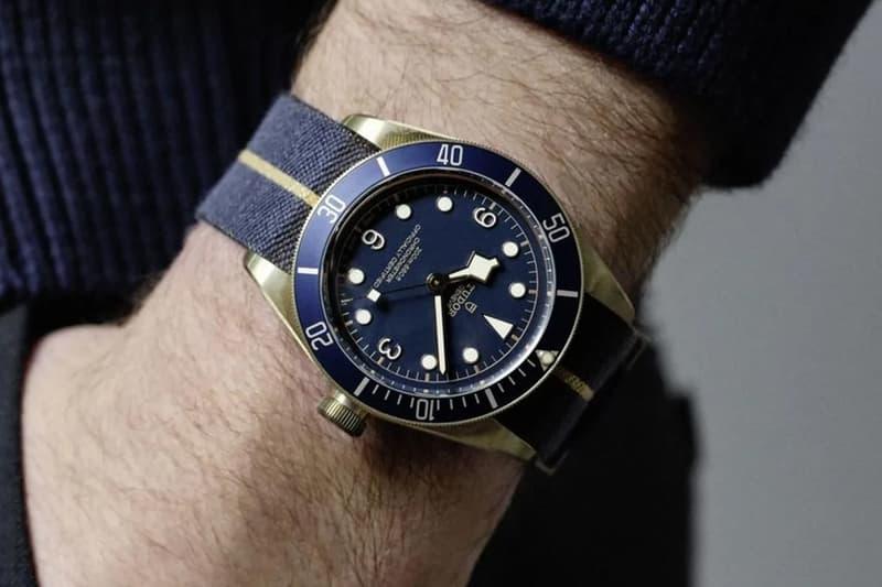 tudor black bay bronze bucherer blue vintage diver united states america tourneau release