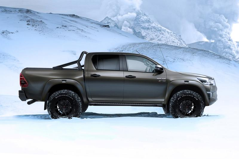 arctic trucks toyota hilux at35 pickup snow bilstein suspension expedition adventure off road scientist researchers