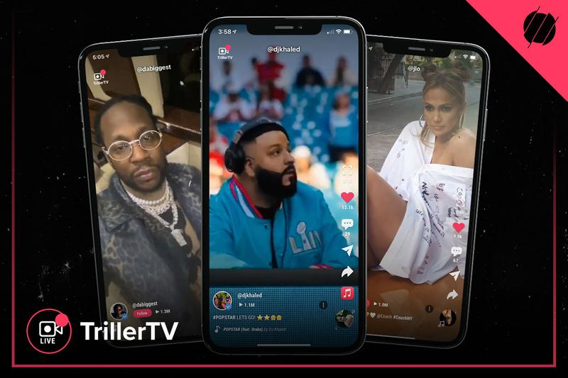 trillerTV official launch new entertainment shows notable talents Jennifer Lopez J.R. Smith DJ Khaled 2 Chainz Ryan Kavanaugh TikTok collective Hype House