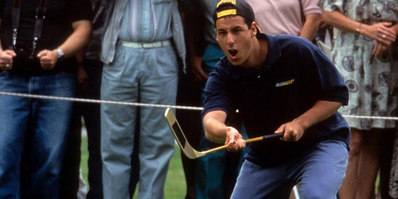 Adam Sandler Crushes Golf Ball Happy Gilmore 25th-Anniversary Watch Shooter McGavin