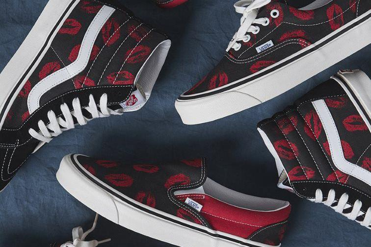 "Vans Anaheim ""Hot Lips"" Collection SK8-Hi 38 DX Classic Slip-On 98 DX Old Skool 36 DX OG Sneaker Shoe Footwear Drop Date Release Information Closer First Look Clothing Capsule T-Shirts Shirts Work Skater Pants Hoodie"