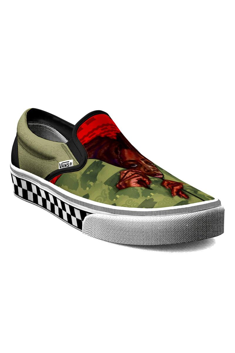 vans black history month foot the bill collection initiative slip on authentic REWINA BESHUE sydney james chris martin  TONY WHLGN official release date info photos price store list buying guide