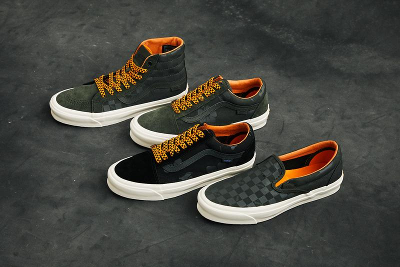 porter yoshida vault by vans old skool slip on sk8 hi luggage footwear black forest night orange aloha floral checkerboard release details