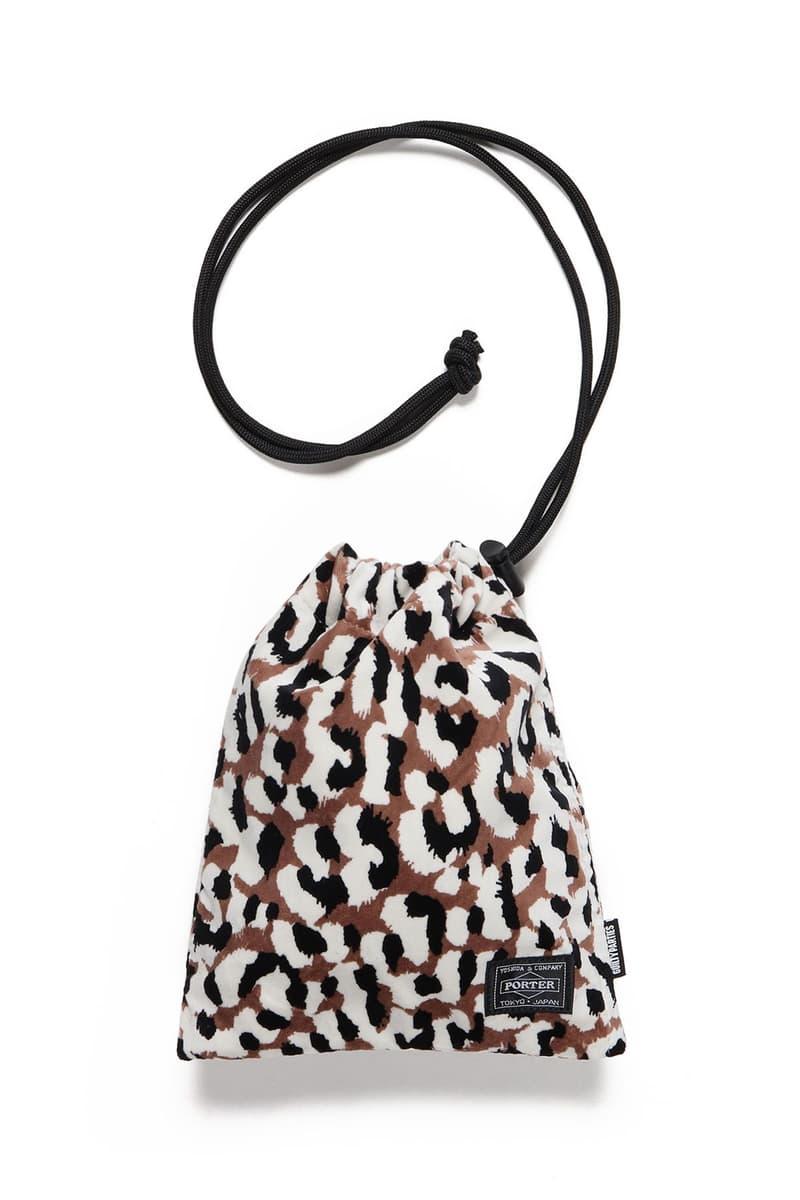 WACKO MARIA x PORTER SS21 Leopard Shoulder Porch collaboration spring summer 2021 handbag accessories white brown