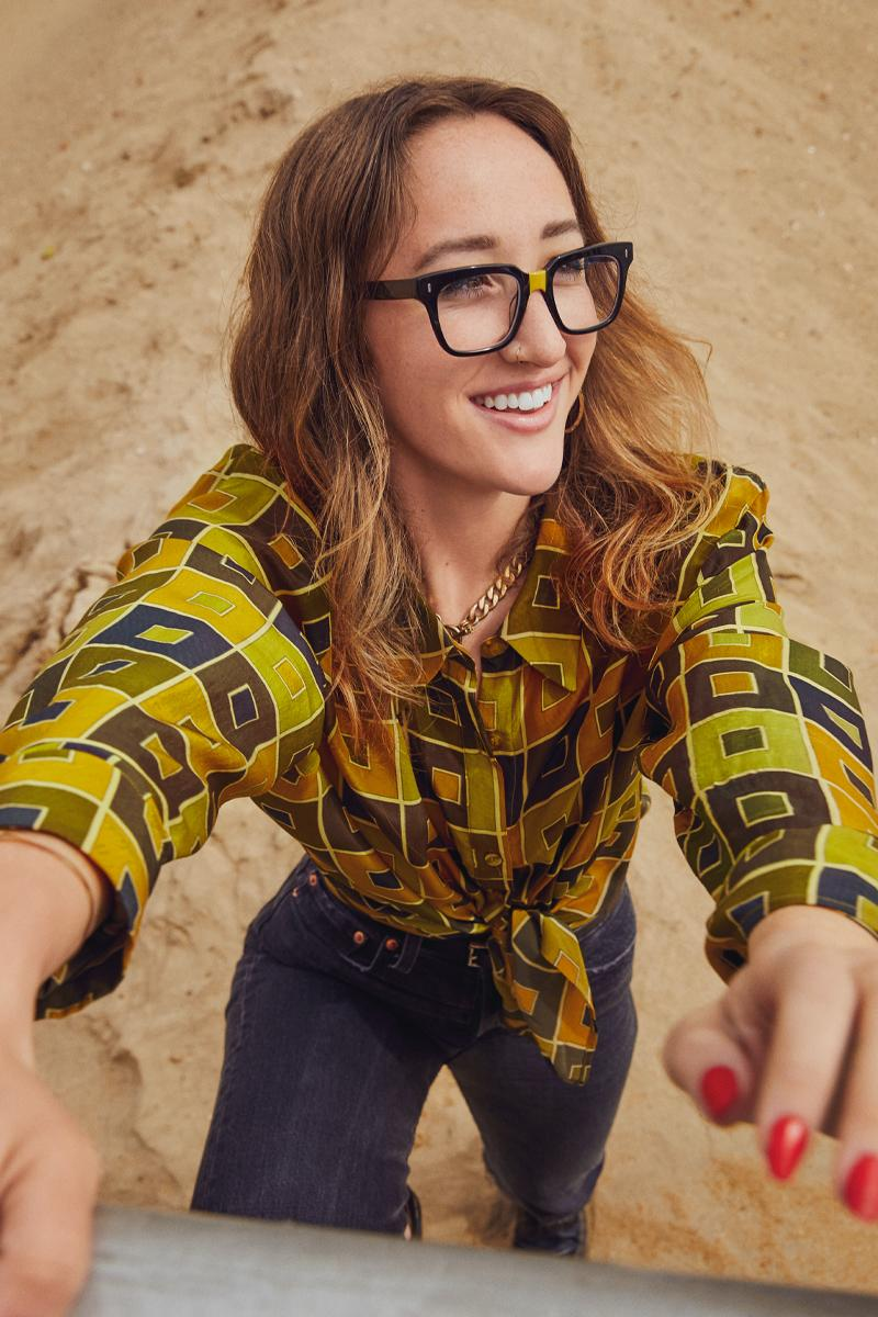 Warby Parker x i am OTHER Collaboration Pharrell Williams Glasses Sunglasses Partnership Canary yellow nose-bridge detail Winston eyeglasses Accessories YELLOW nonprofit