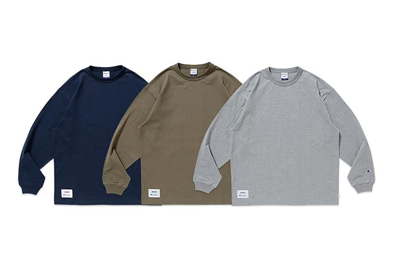 wtaps champion basics collection hoodies crewnecks tees long sleeve short sleeve reverse weave blanks academy release info store list buying guide price photos