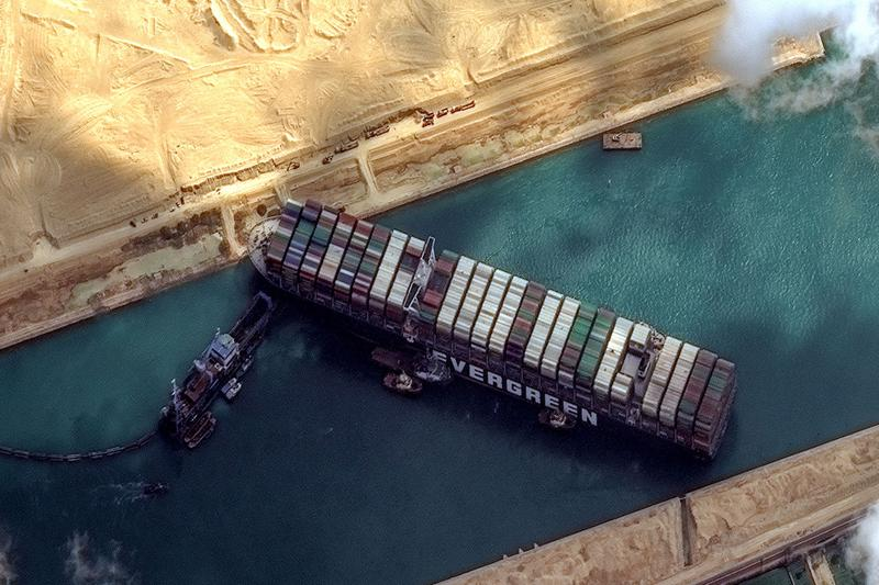 This Web App Lets You Stick the Ever Given Ship Anywhere in the World suez canal cargo container glitch microsoft flight simulator