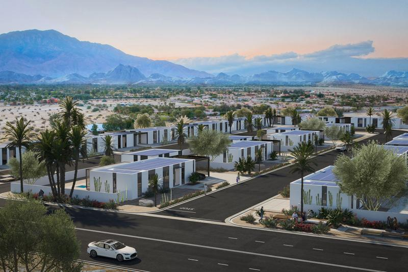 Community of 3D-Printed Houses Is Popping Up in California rancho mirage desert environmentally friendly eco architecture