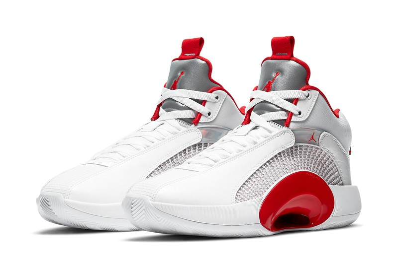 "Air Jordan 35 Arrives With a Simple ""Fire Red"" Makeover"