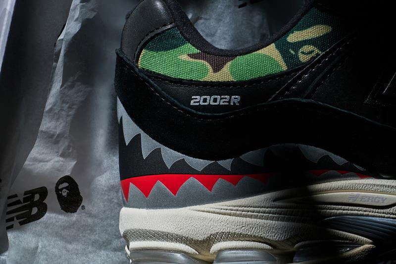 bape a bathing ape new balance 2002r shark camo official release date info photos price store list buying guide