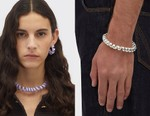 "Bottega Veneta's Viral ""Home Phone Cord"" Necklace Appears as Bracelet and Earrings"