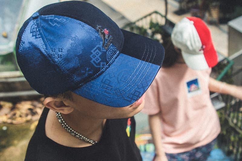 CLOT Kangol 2021 Hat Capsule menswear streetwear caps headwear bucket silk royale pattern red blue white accessories baseball bermuda info