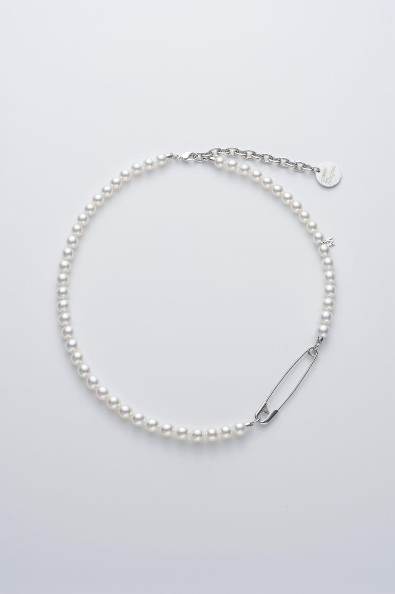 COMME des GARÇONS x Mikimoto Pearl Necklaces SS21 spring summer 2021 dover street market sign up collaboration jewelry collection silver stud safety pin