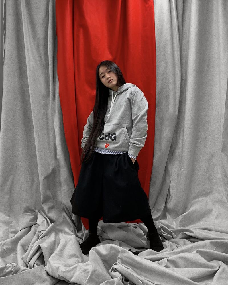 COMME DES GARÇONS PLAY x Nike Campaign Jean Jacques Ndjoli together role converse chuck taylor hoodie tee shirt sweater sneakers chuck 70 dover street market release date info buy cdg