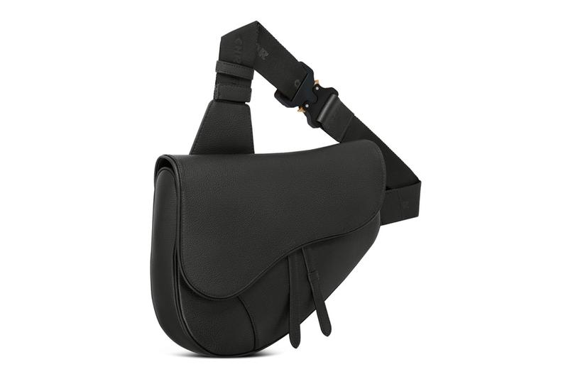 dior men maxi saddle bag messenger classic black monochrome release