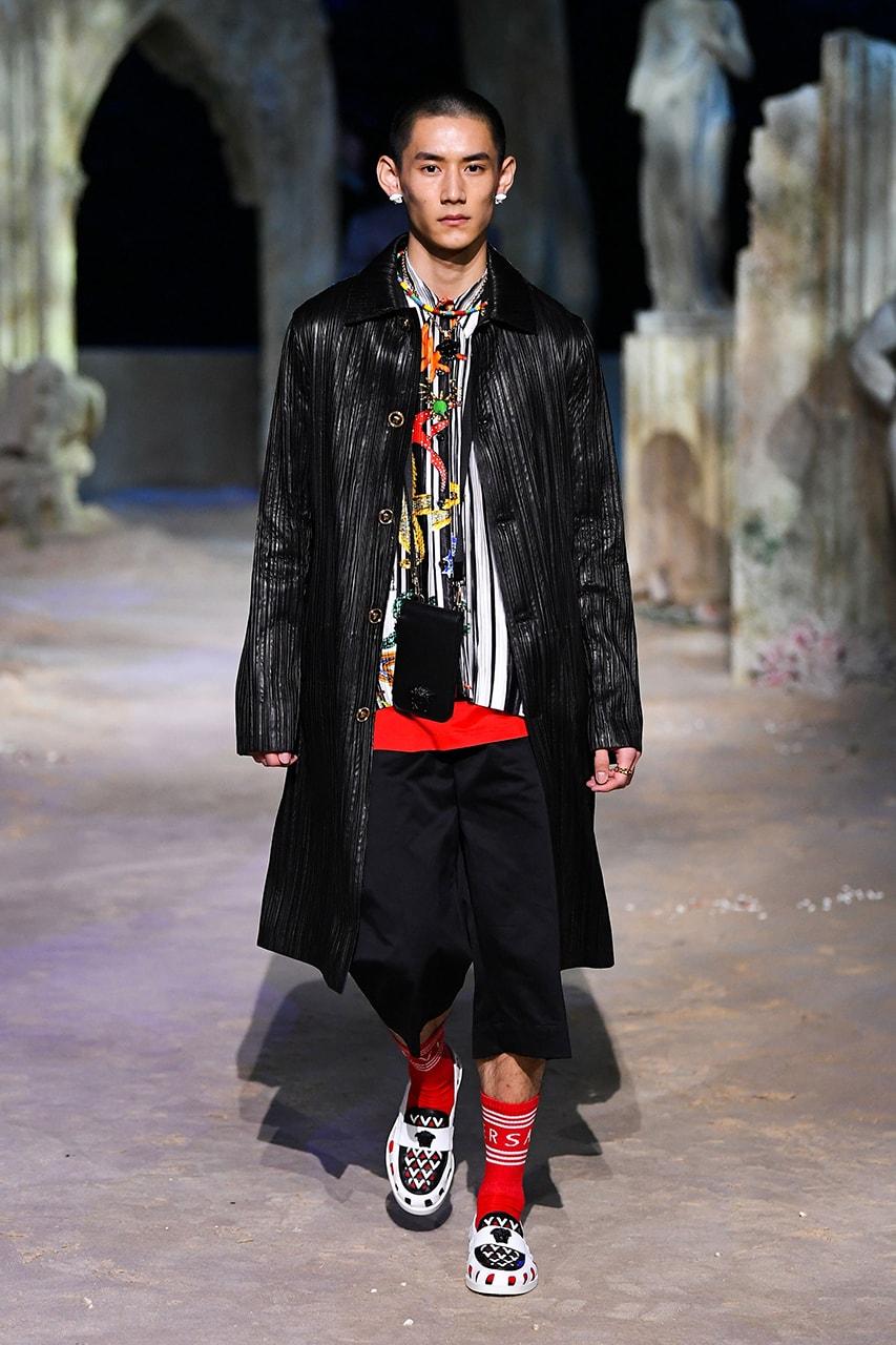 Donatella Versace gianni tupac puff daddy diddy lil nas X salehe bembury skepta aj tracey milan fashion week fall winter 2021 fw21