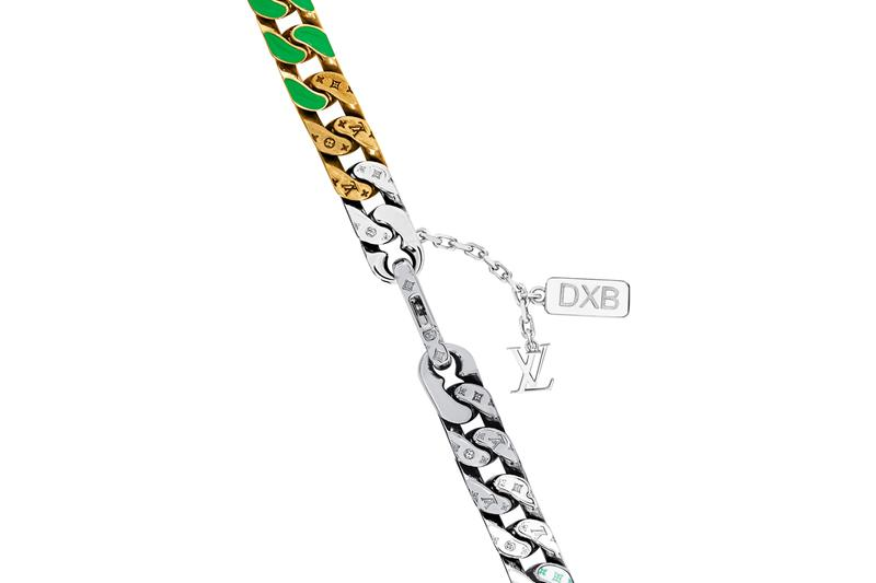 Louis Vuitton Around The World LV Chain Links Necklace Dubai DXB Exclusive Release Information Virgil Abloh Jewelry SS21 SS21 Spring Summer 2021