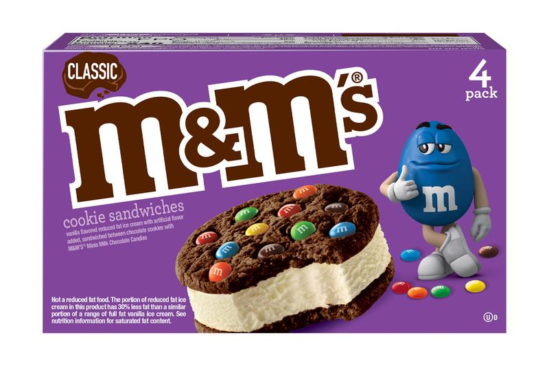 M&Ms St. Patrick's Day Mint Ice Cream Cookie Sandwich New Celebration Leprechaun Dessert
