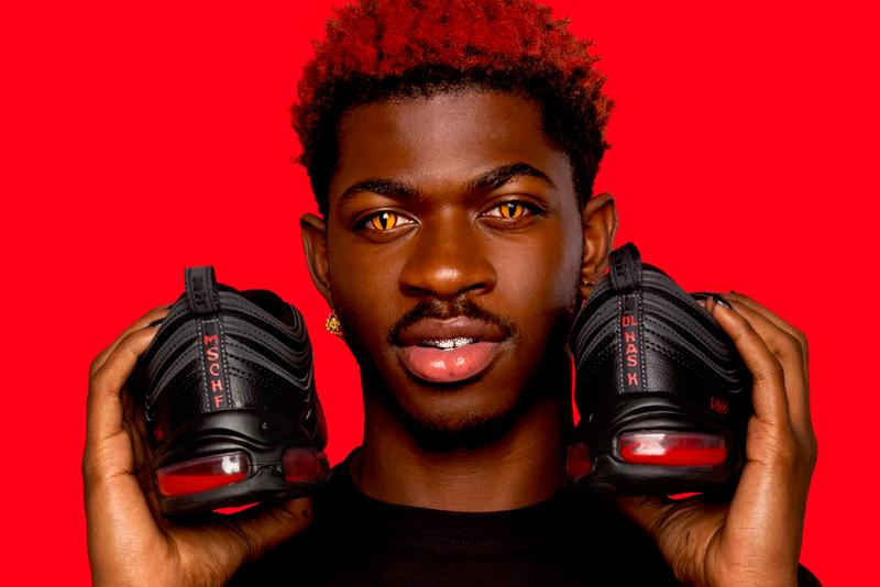 """Lil Nas X x MSCHF Nike Air Max 97 """"Satan Shoes"""" Real Human Blood 666 Drop Air Bag Unit Collaboration Unique Jesus Shoes AM97 Birkinstocks 60cc Ink Red Devil Release Information Price Expensive Designer Rare Cease and Diciest Canceled God Jesus Christian Sued Facebook Google Twitter YouTube"""