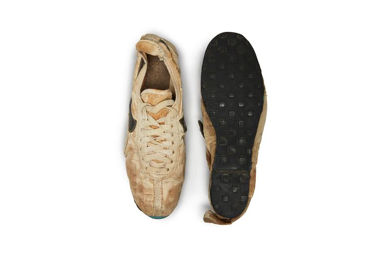 """Nike """"Moon Shoe"""" University of Oregon Track Coach Bill Bowerman Sotheby's Auction Rare Running Shoes Innovative Waffle Outsole Geoff Hollister Tom McChesney"""