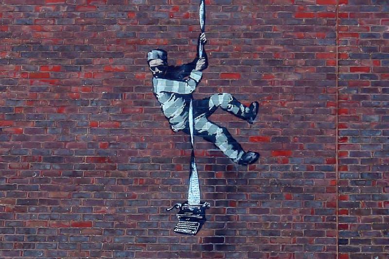 Possible 'Banksy' Artwork Reading Prison Wall Appearance Oscar Wilde The Ballad of Reading Gaol street art Gaol