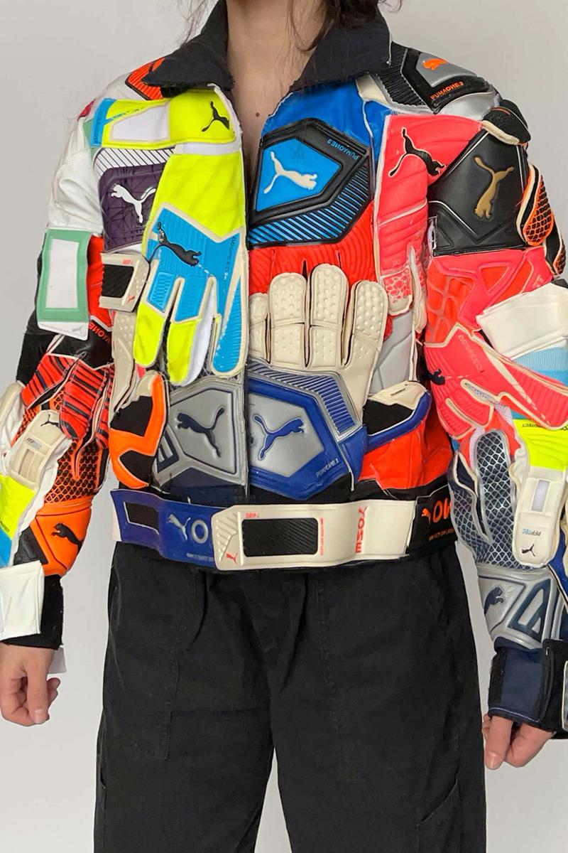 nicole mclaughlin puma goalkeeper glove jacket sustainability upcycling release details information buy cop purchase