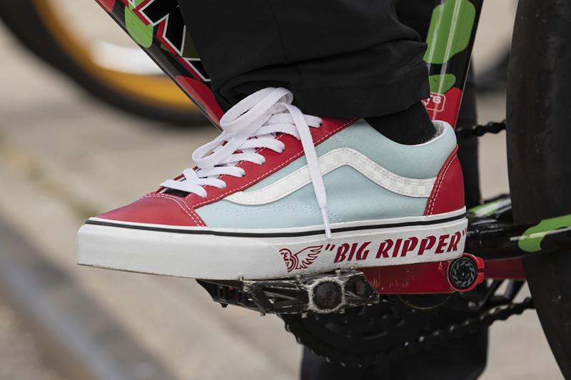 vans se bikes style 36 red blue white black t shirt big ripper pk ripper blocks flyer collection release info store list buying guide photos price
