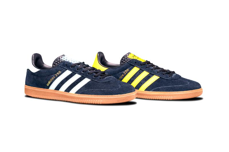 """size? x adidas Originals AS 230 """"Archive Series"""" 1980s Terrace Culture Casuals Sneaker Footwear Trainer OG Germany Sportswear Brand Classic Navy Suede Blue Yellow Leather Three Stripes"""