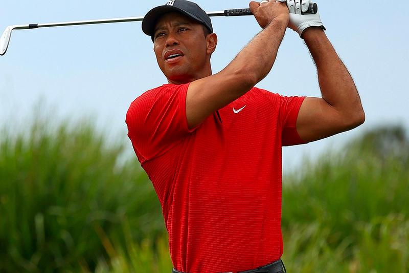 Tiger Woods First Public Statement Since Crash Thanks Golfers Red Shirt Gesture PGA Golf Nike WGC-Workday Championship PGA Tour For tiger Sunday Red Black Pants Hat