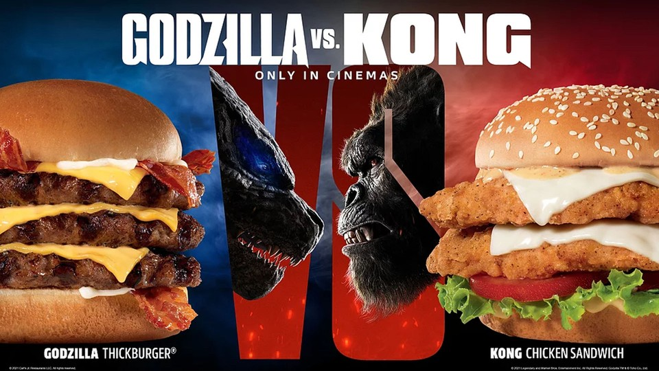 Carl's Jr. and Hardee's Introduce Godzilla and King Kong-Inspired Burgers