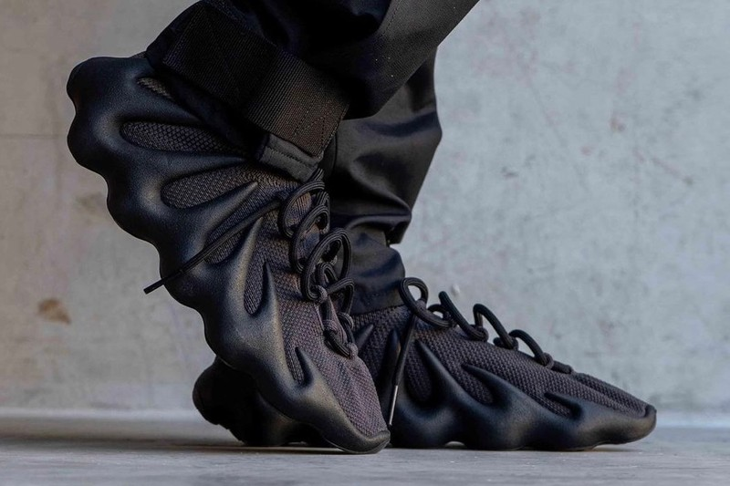 "Take an on-Foot Look At the adidas YEEZY 450 ""Dark Slate"""