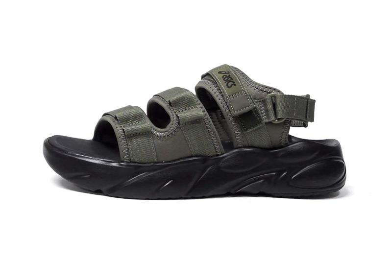 asics sportstyle bondal sandal black wood crepe midnight piedmont gray mantle green release info store list buying guide photos price